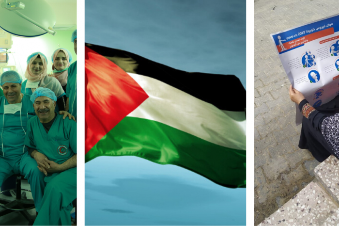 Soutien Palestine contre le corona - Steun Palestina in de strijd tegen corona